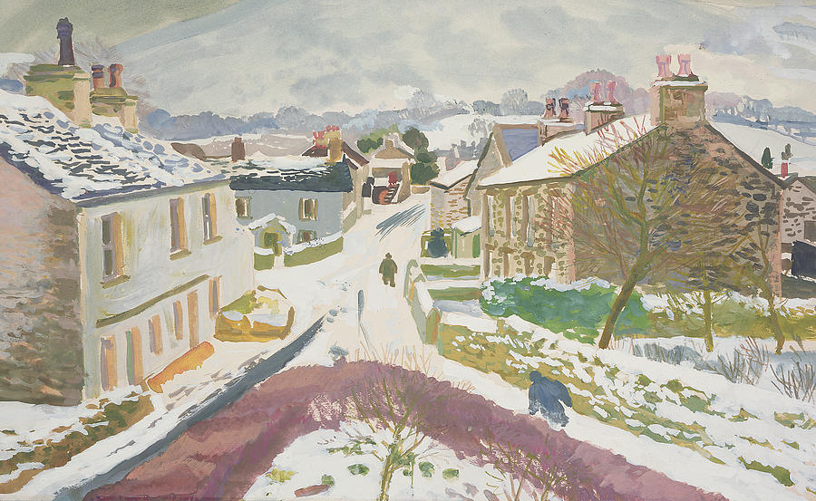English Countryside Painting - Barbon In The Snow by Stephen Harris