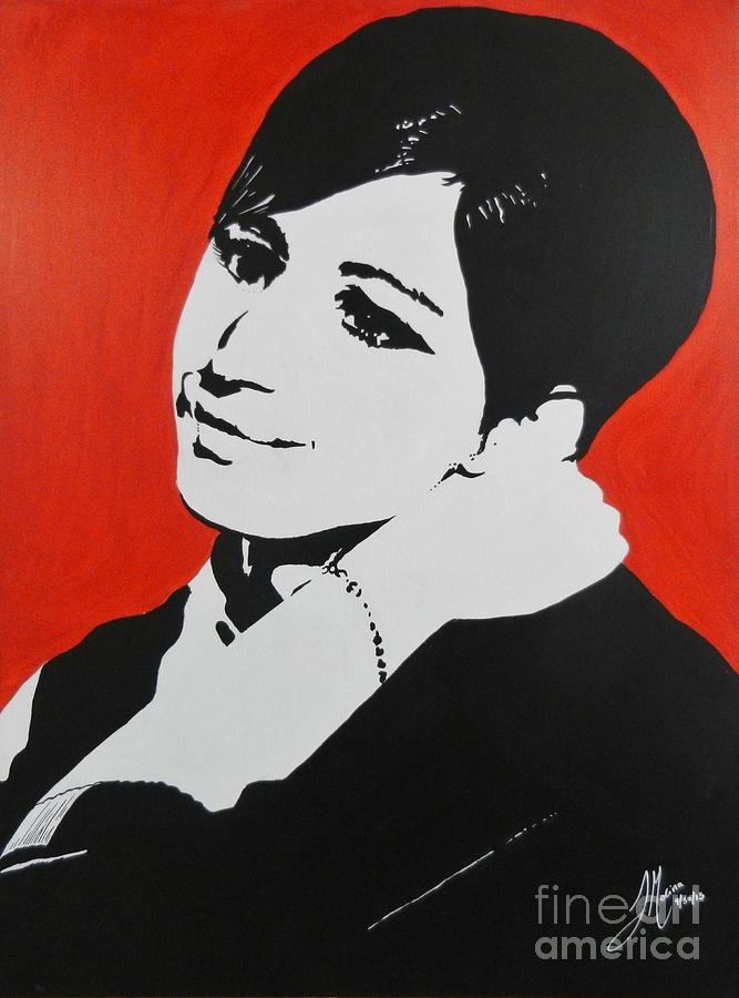 Barbra Streisand Painting - Barbra Streisand by Juan Molina