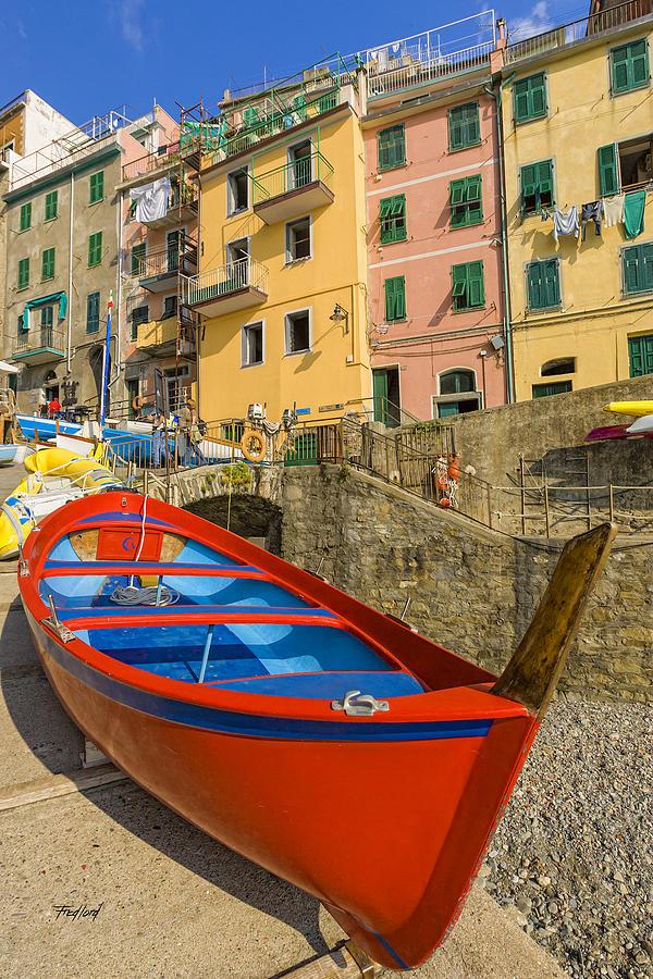 Red Photograph - Barca Rossa A Rio Maggiore by Fred J Lord