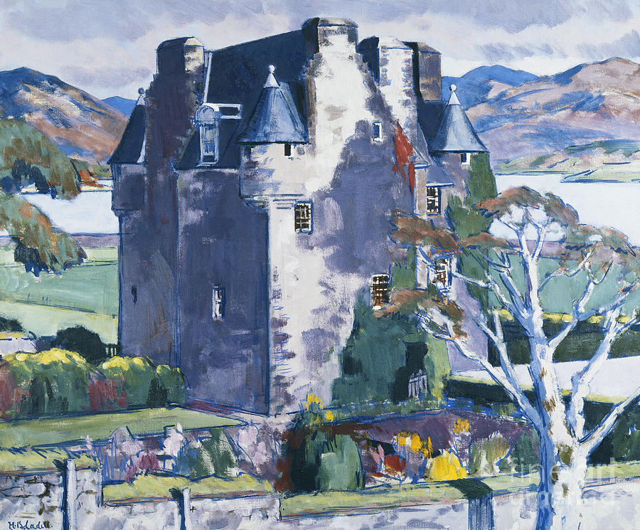 20th Century Painting - Barcaldine Castle by Francis Campbell Boileau Cadell
