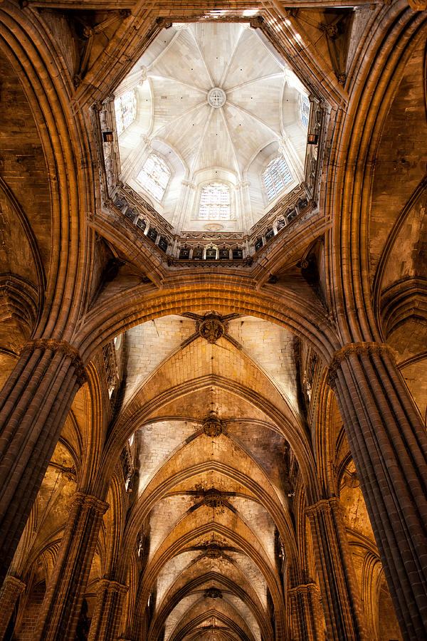 Barcelona Photograph - Barcelona Cathedral Ceiling by Artur Bogacki