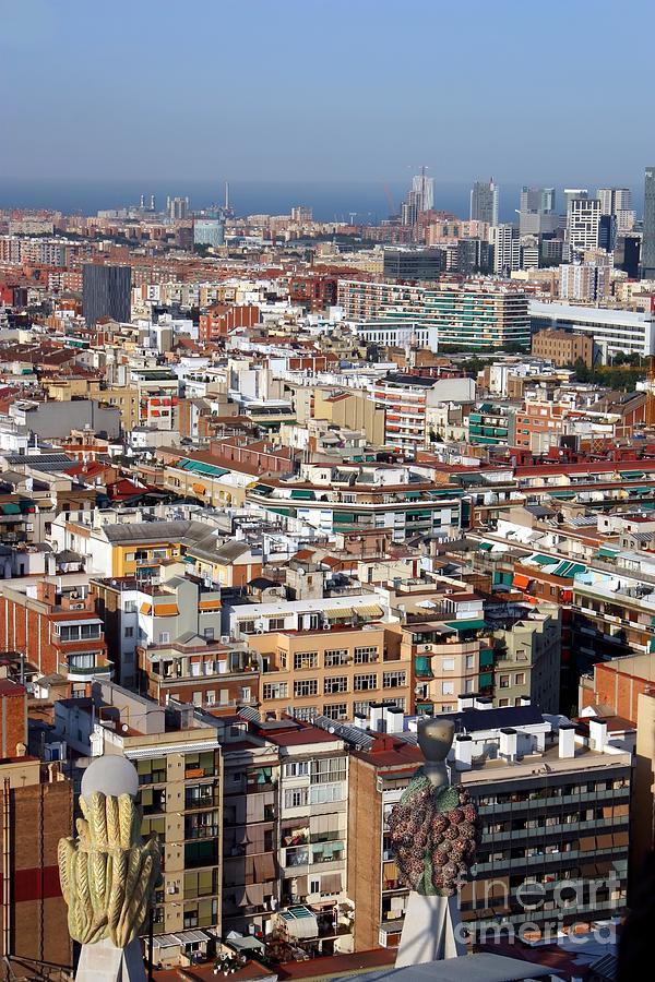 Barcelona Photograph - Barcelona Cityscape  by Sophie Vigneault
