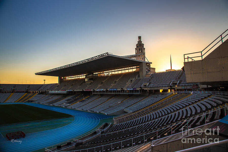 Olympic Stadium Photograph - Barcelona Olympic Stadium by Rene Triay Photography
