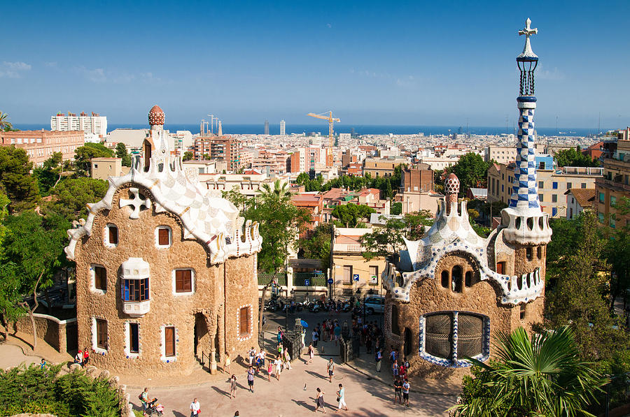 Barcelona Photograph - Barcelona Park Guell Antoni Gaudi by Matthias Hauser