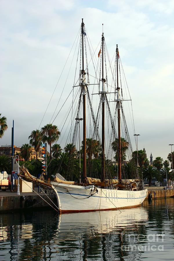 Navigation Photograph - Barcelona port of call by Sophie Vigneault