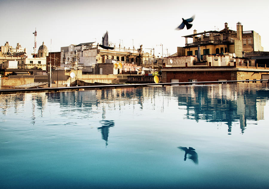 Barcelona Rooftop Pool Photograph by Richlegg