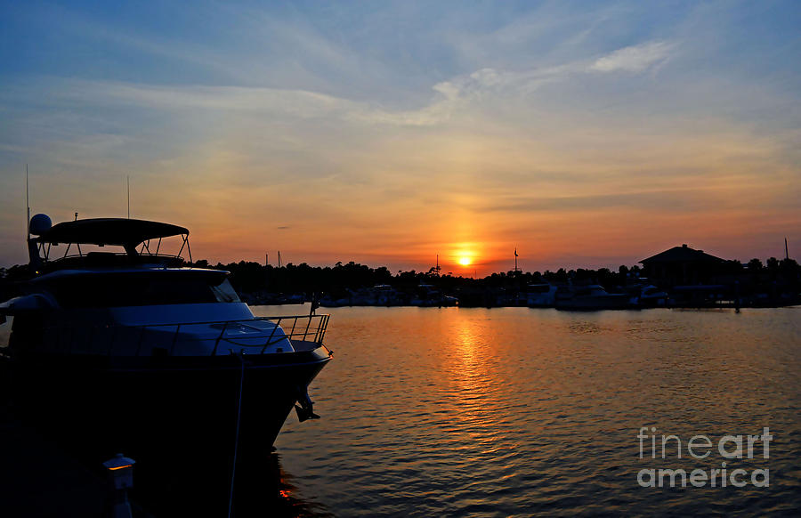 Sunset Photograph - Barefoot Landing Sunset by Kathy Baccari
