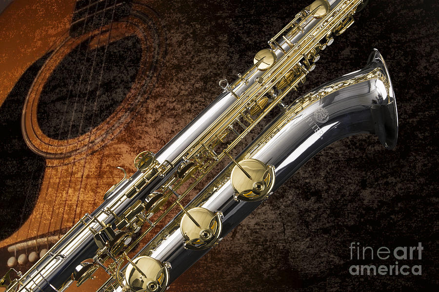 Bari Sax Photograph - Baritone Saxophone Photograph Picture In Color 3462.02 by M K Miller