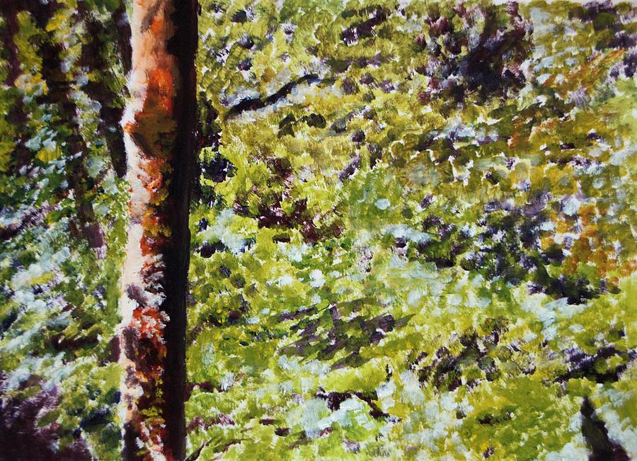 Acrylic Painting - Bark IIi by Elizabeth Lock