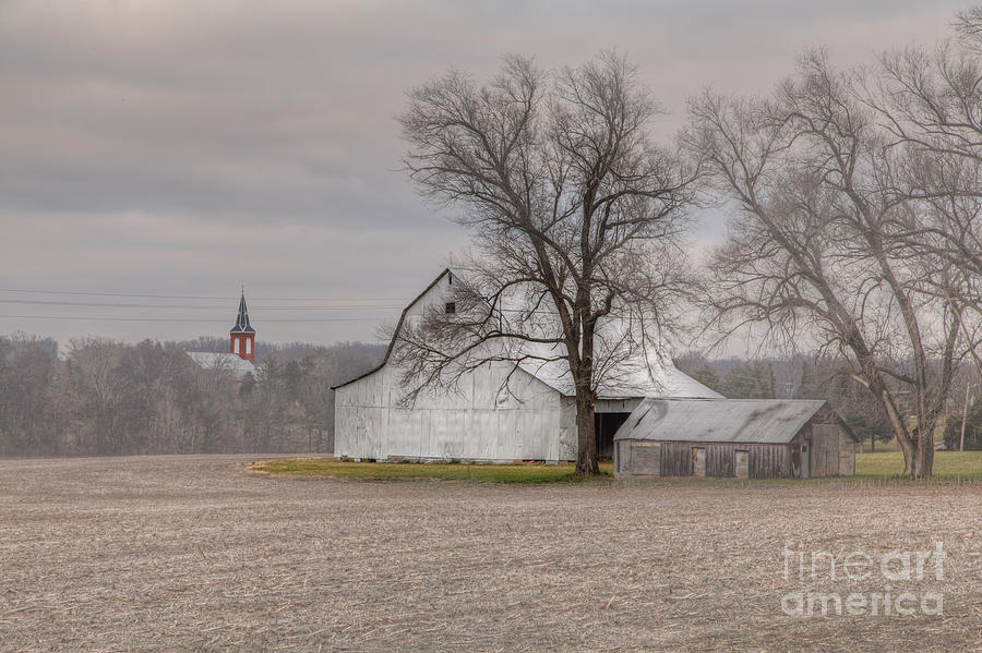 2014 Photograph - Barm By A Church by Larry Braun