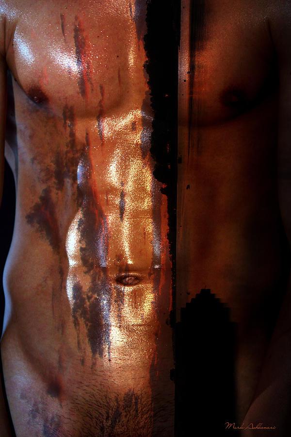 Male Nude Photograph - Barmuda Metallic  2 by Mark Ashkenazi