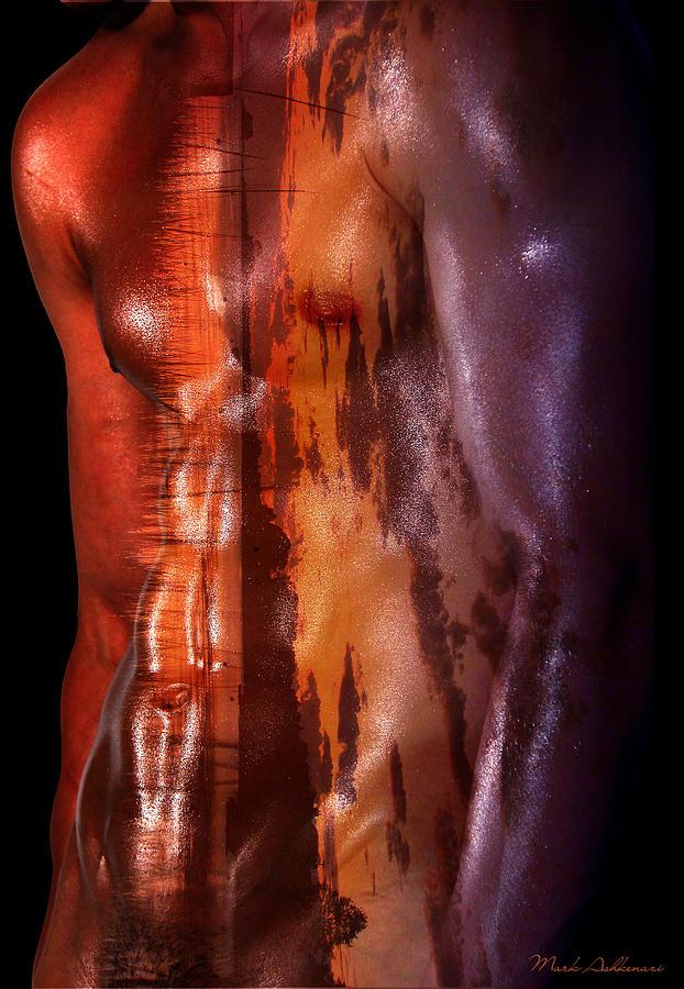 Male Nude Photograph - Barmuda Metallic   by Mark Ashkenazi