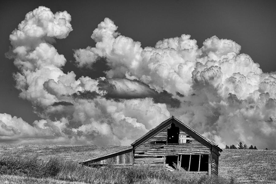 Usa Photograph - Barn And Clouds by Latah Trail Foundation