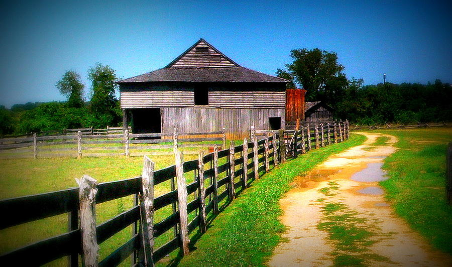 Barn Photograph - Barn And Fence In Virginia by Jo Anna Wycoff
