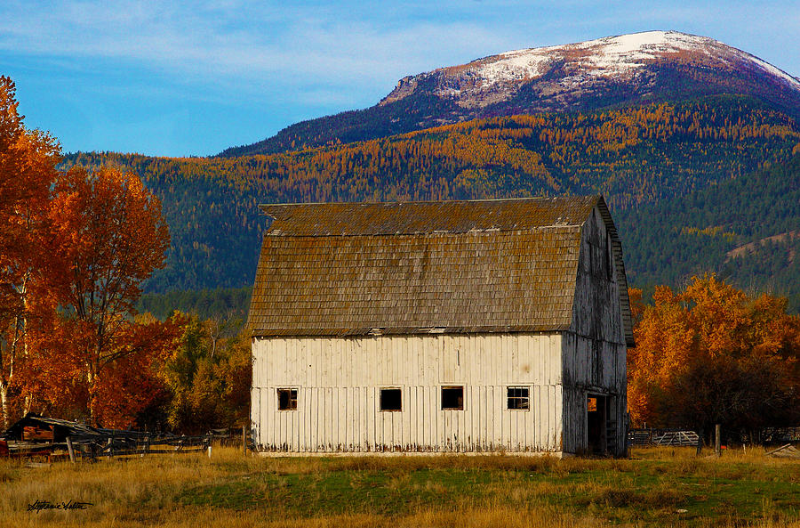 Old Bitterroot Valley Barn by Stephanie Salter