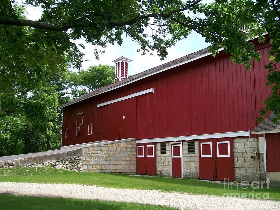 Red Photograph - Barn At Greene Valley by Laurie Eve Loftin