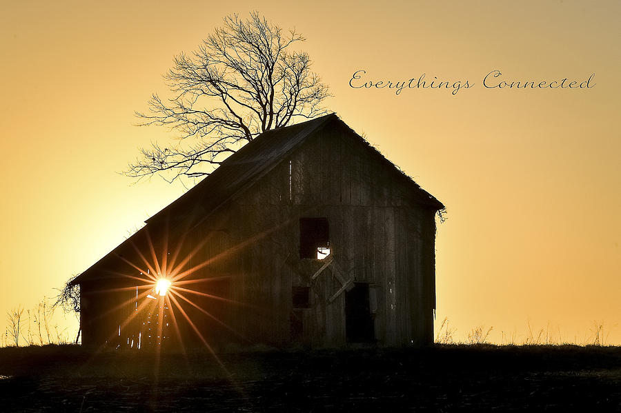 Sunrises Photograph - Barn At Sunrise by Garett Gabriel