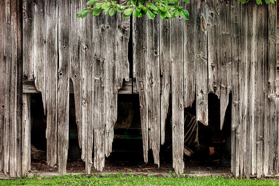 Barns Photograph - Barn Boards - Rustic Decor by Gary Heller