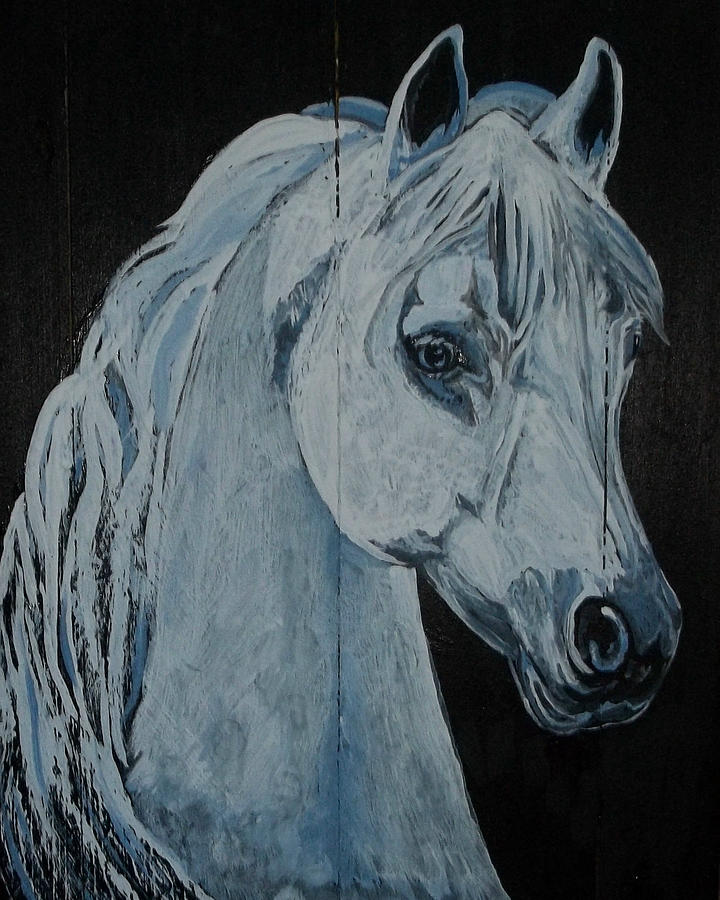 Horse Painting - Barn Ghost by Sandra Wilson