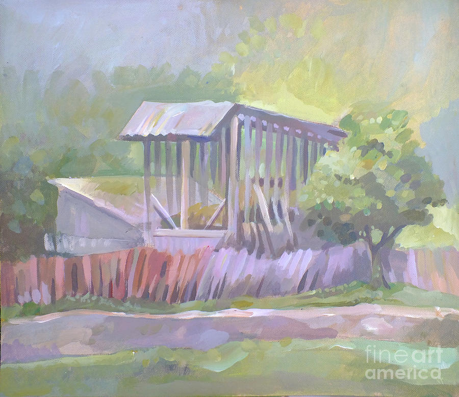 Romanian Painting - Barn In Agarcia by Filip Mihail