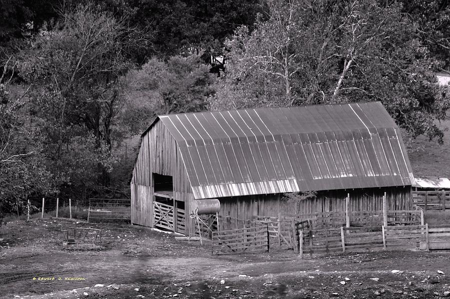 Barn Photograph - Barn In Black And White by Edward Hamilton