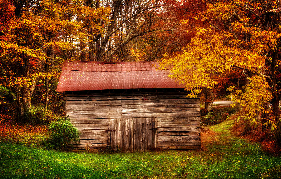 Barn In Fall by Greg Mimbs