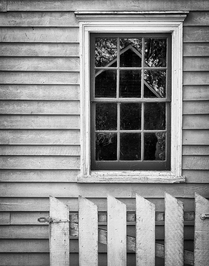 Black And White Photograph - Barn In Refelction by Steve Stanger