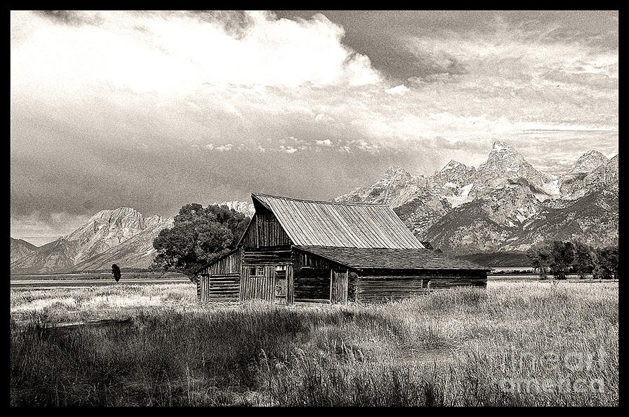 Landscape Photograph - Barn In The Tetons by Robert Kleppin
