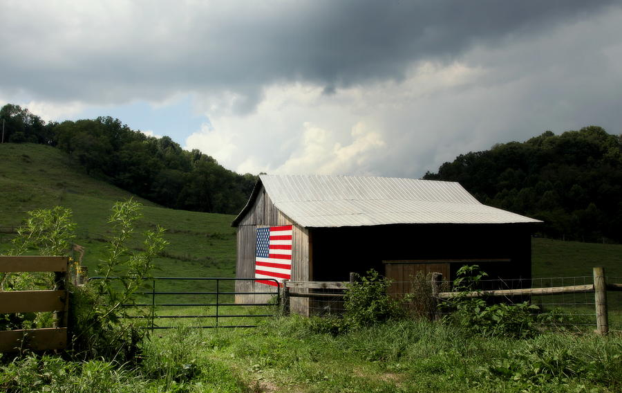 Farmer Pride Photograph - Barn In The Usa by Karen Wiles