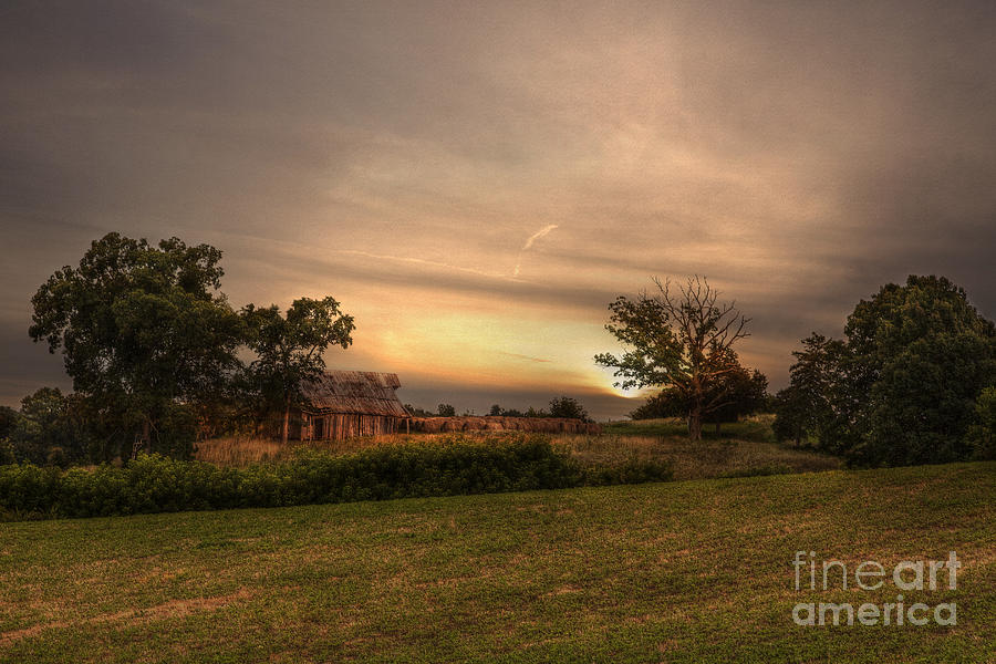 2014 Photograph - Barn On A Hill by Larry Braun