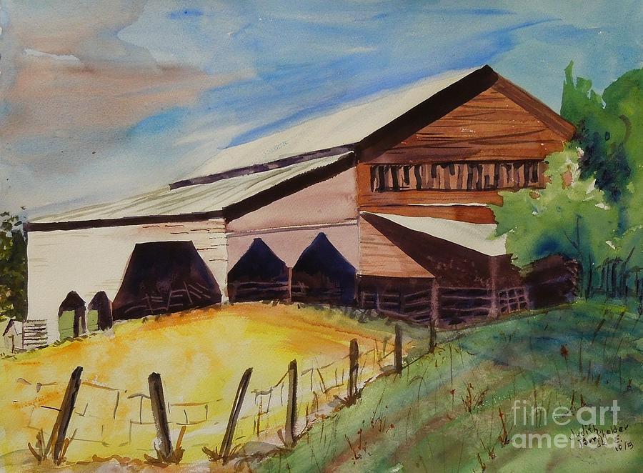 Barn Painting - Barn On Rt. 42 by Judith Espinoza