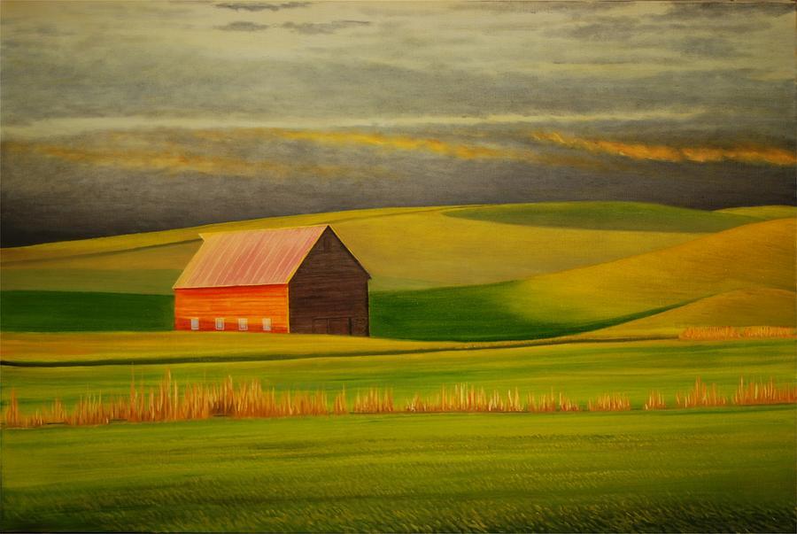 Barn On The Palouse Painting