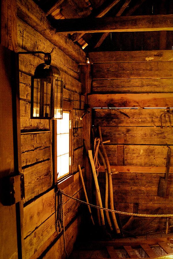 Fort Nisqually Photograph - Barn Tools by David Patterson
