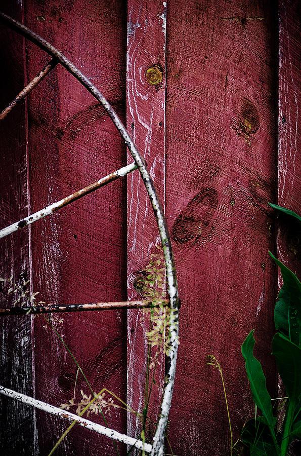 Steel Wheel Photograph - Barn Wall by Rick Bartrand