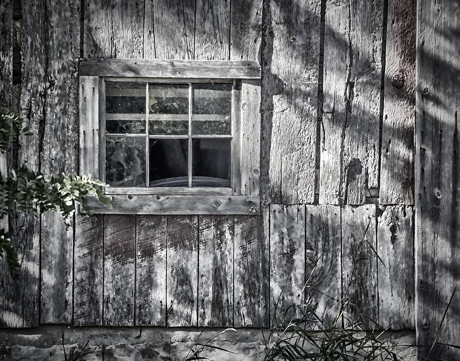 Abandoned Photograph - Barn Window by Joan Carroll