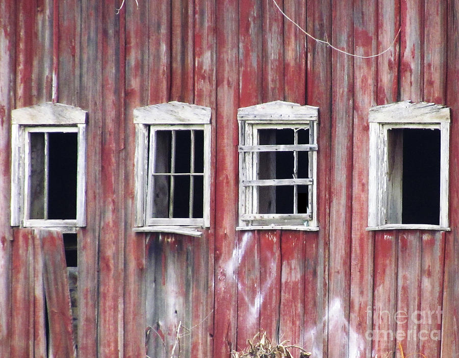 Barn Windows Photograph By Lesley Jane Smithers