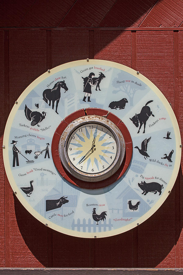Barn Photograph - Barn Yard Clock by Garry Gay
