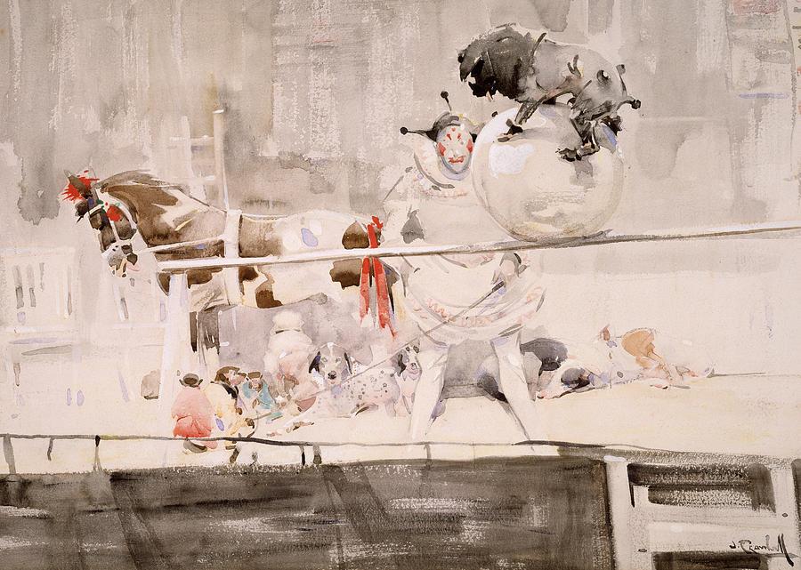 Horse Painting - Barnet Fair by Joseph Crawhall