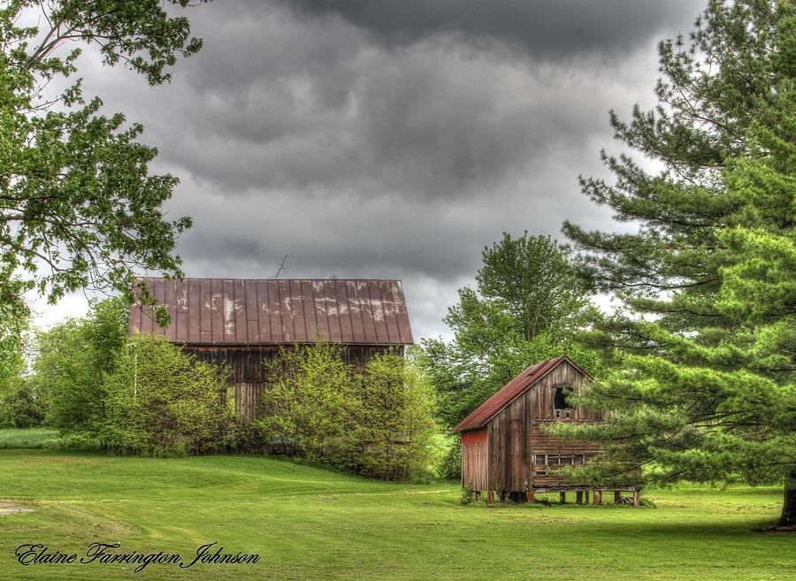 Barns and Storm Clouds by Elaine Farrington Johnson