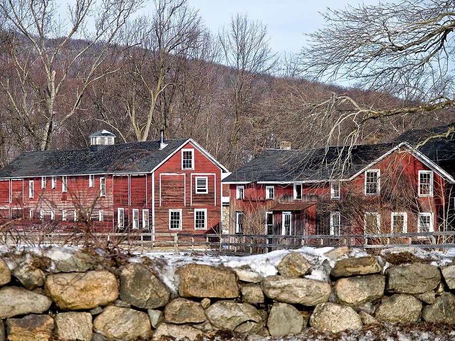Barns In Winter Photograph by Jim DeLillo