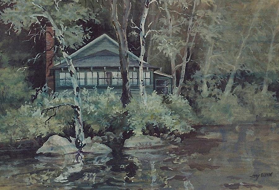 Watercolor Painting - Barnstead Summer Cottage by Joy Nichols