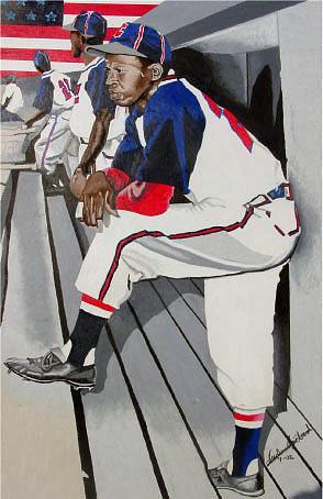 Negro Painting - Barnstorm Boys by Andre Ajibade