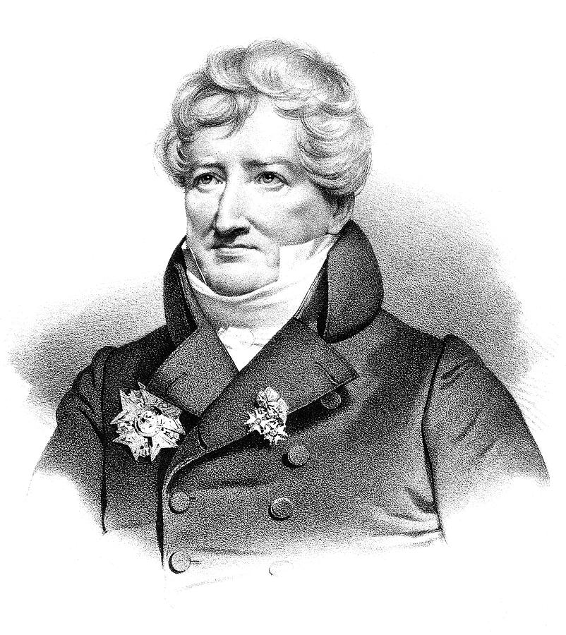 19th Century Painting - Baron Georges Cuvier (1769-1832) by Granger
