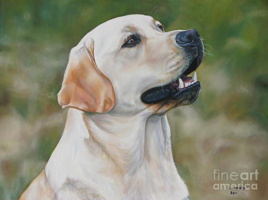 Labrador Retriever Painting - Baron by Suzanne Leonard