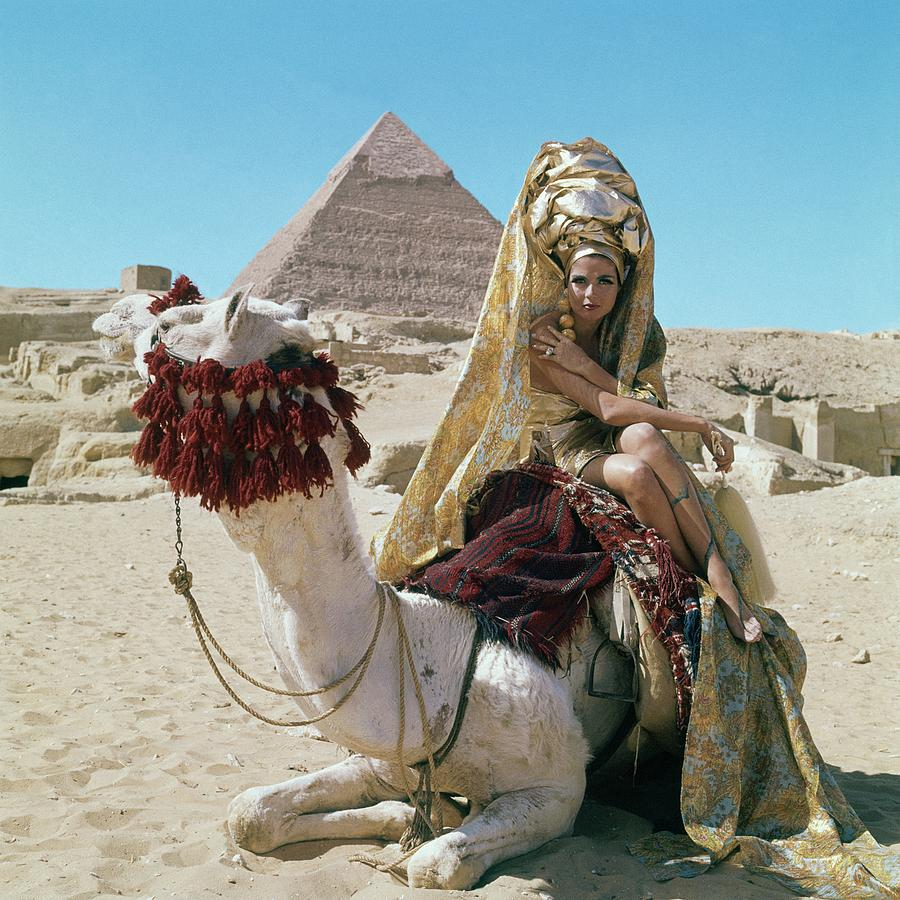 Fashion Photograph - Baronne Van Zuylen On A Camel by Leombruno-Bodi
