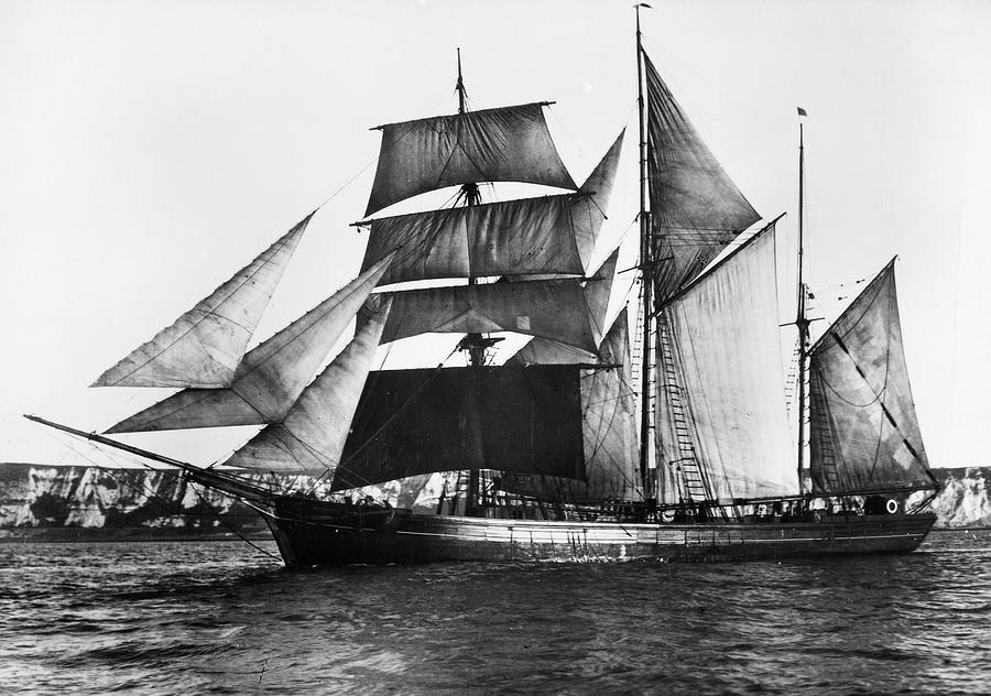 1871 Photograph - Barquentine, 1871 by Granger