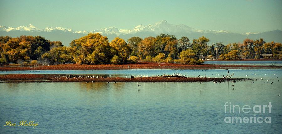 Barr Lake With Longs Peak Photograph by Reza Mahlouji