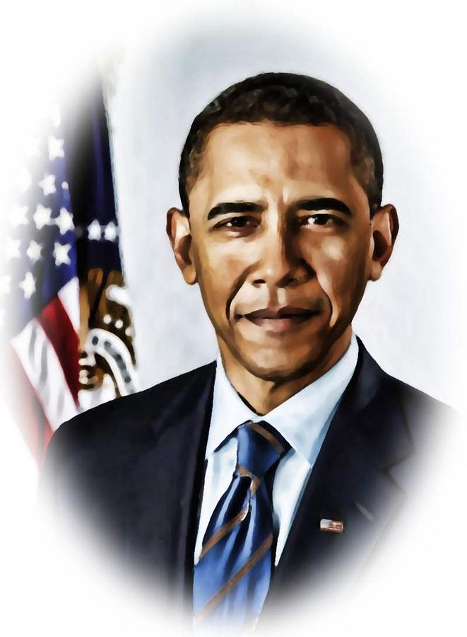 Barrack Painting - Barrack Obama by Tyler Robbins