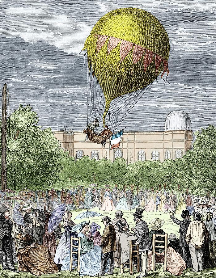 Balloon Photograph - Barral & Bixios Meteorological Flight by Sheila Terry