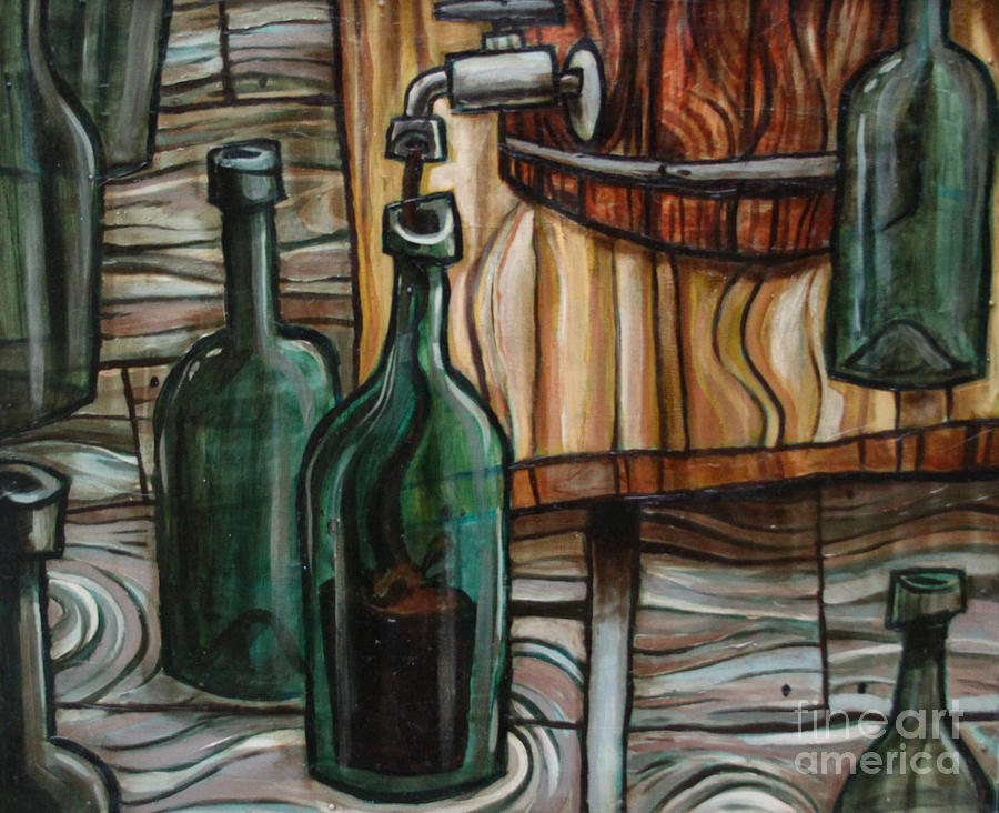 Wine Painting - Barrel To Bottle by Sean Hagan